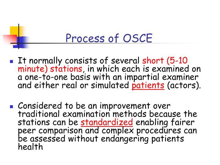 Process of OSCE