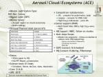 aerosol cloud ecosystems ace