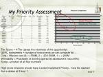 my priority assessment