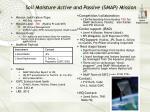 soil moisture active and passive smap mission
