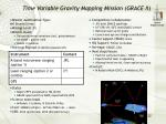 time variable gravity mapping mission grace ii