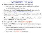 algorithms for joins
