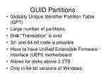 guid partitions