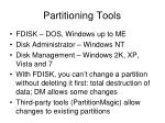 partitioning tools