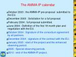the amma ip calendar