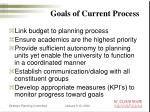 goals of current process