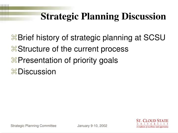 strategic planning discussion n.
