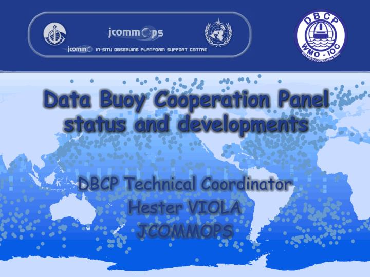 data buoy cooperation panel status and developments n.