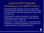 applying aiha partnership methodology to the pmtct project
