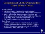 coordination of usaid donor and inter donor efforts in odessa