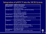 integration of pmtct into the mch system