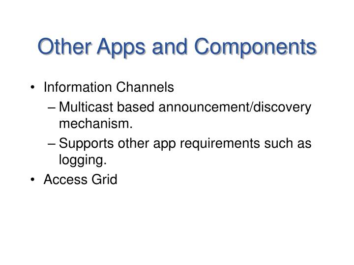 Other Apps and Components