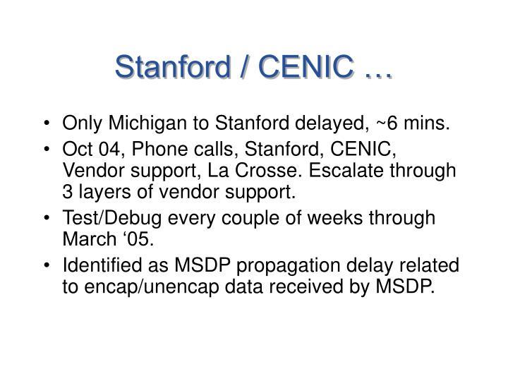 Stanford / CENIC …
