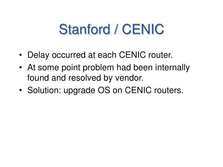 Stanford / CENIC