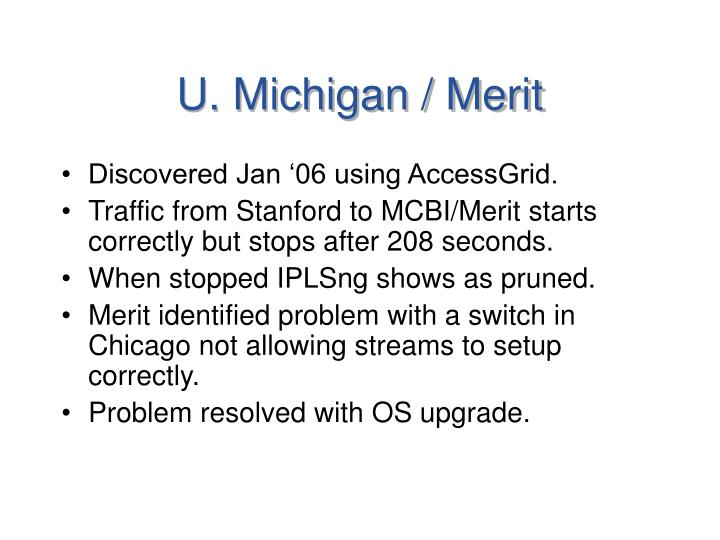 U. Michigan / Merit