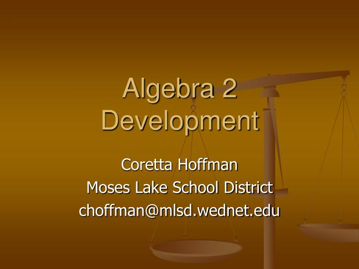 algebra 2 development n.