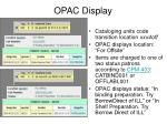 opac display
