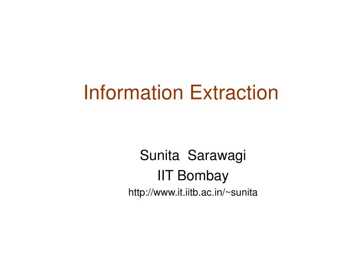 information extraction n.