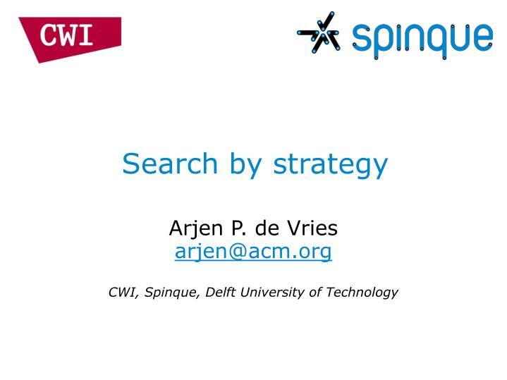 search by strategy n.