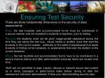 ensuring test security