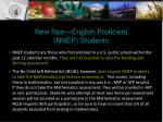 new non english proficient nnep students