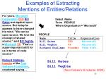 examples of extracting mentions of entities relations
