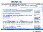 y shortcuts