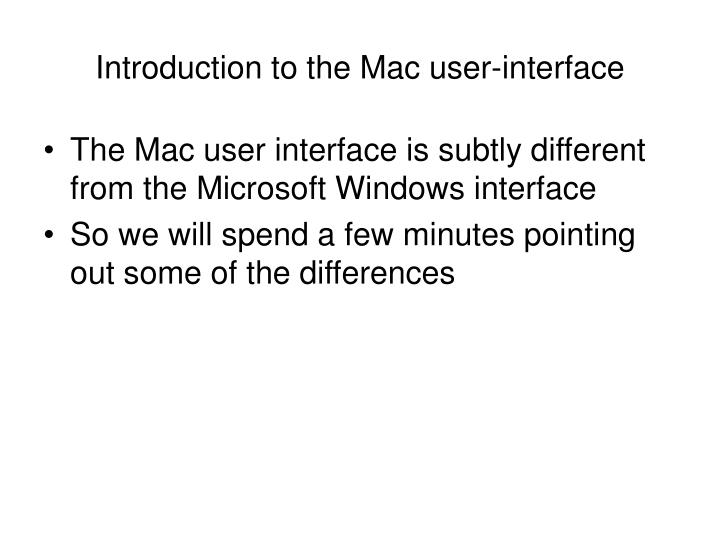 introduction to the mac user interface n.