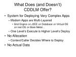 what does and doesn t cddlm offer