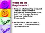 where are the requirements