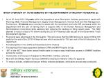 brief overview of achievements by the department of military veterans 2