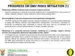 progress on dmv risks mitigation 1