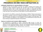progress on dmv risks mitigation 3