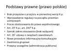 podstawy prawne prawo polskie