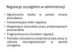 regulacje szczeg lne w administracji