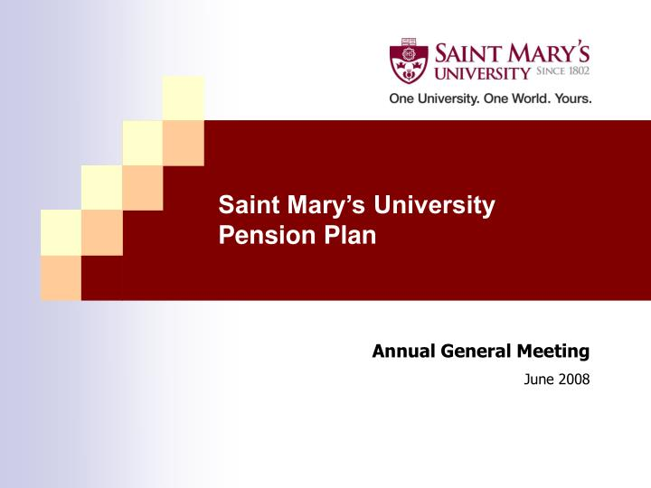 saint mary s university pension plan n.