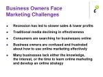 business owners face marketing challenges