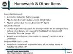 homework other items