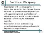 practitioner workgroup