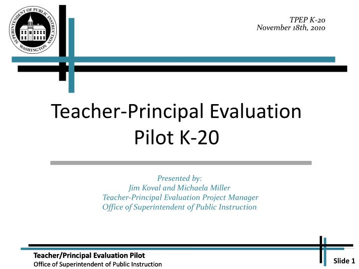 teacher principal evaluation pilot k 20 n.