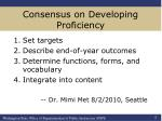 consensus on developing proficiency