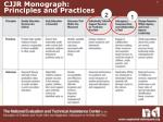 cjjr monograph principles and practices
