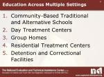 education across multiple settings