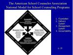 the american school counselor association national model for school counseling programs