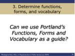 3 determine functions forms and vocabulary