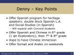 denny key points