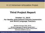 k 12 immersion articulation project