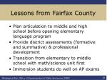 lessons from fairfax county
