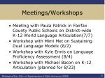 meetings workshops