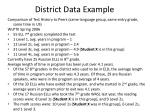 district data example